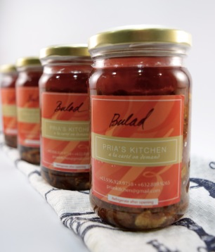 A delish salted dreid fish relish stewed with capers, olives, garlic, spices and canola oil.