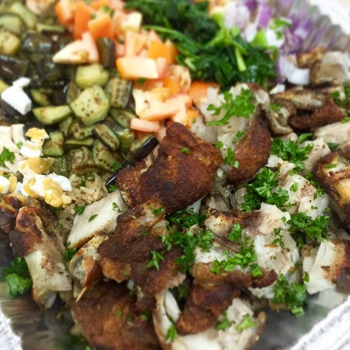 Boneless Crispy Pata with Bulad Rice